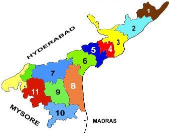 provinces in telugu